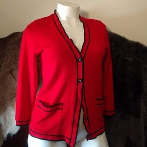 Red sweater by Cathy Daniels size womens small